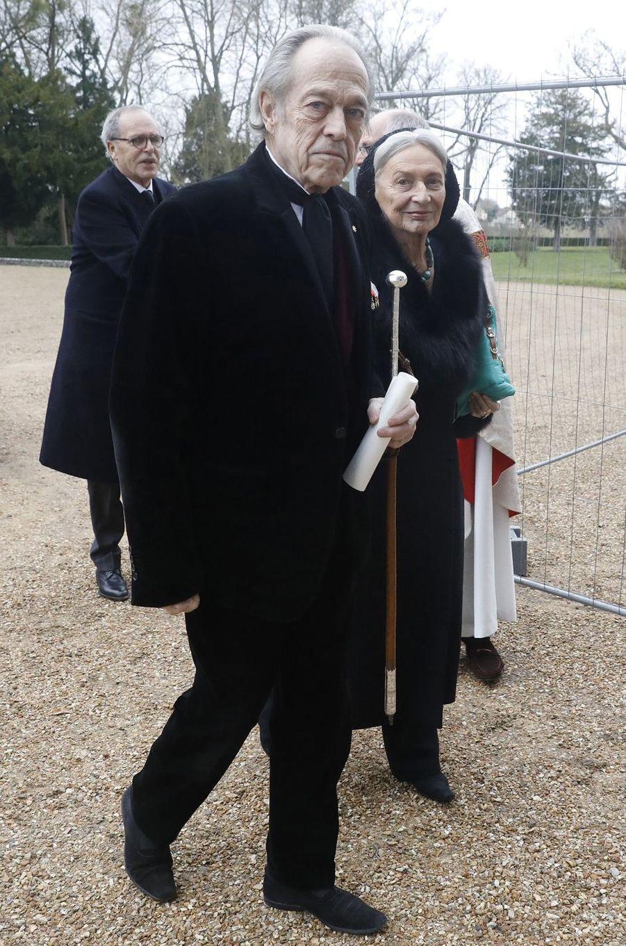 Le prince Henri d'Orléans, comte de Paris, et sa seconde épouse Micaela Cousino, comtesse de Paris, à Dreux le 6 janvier 2018