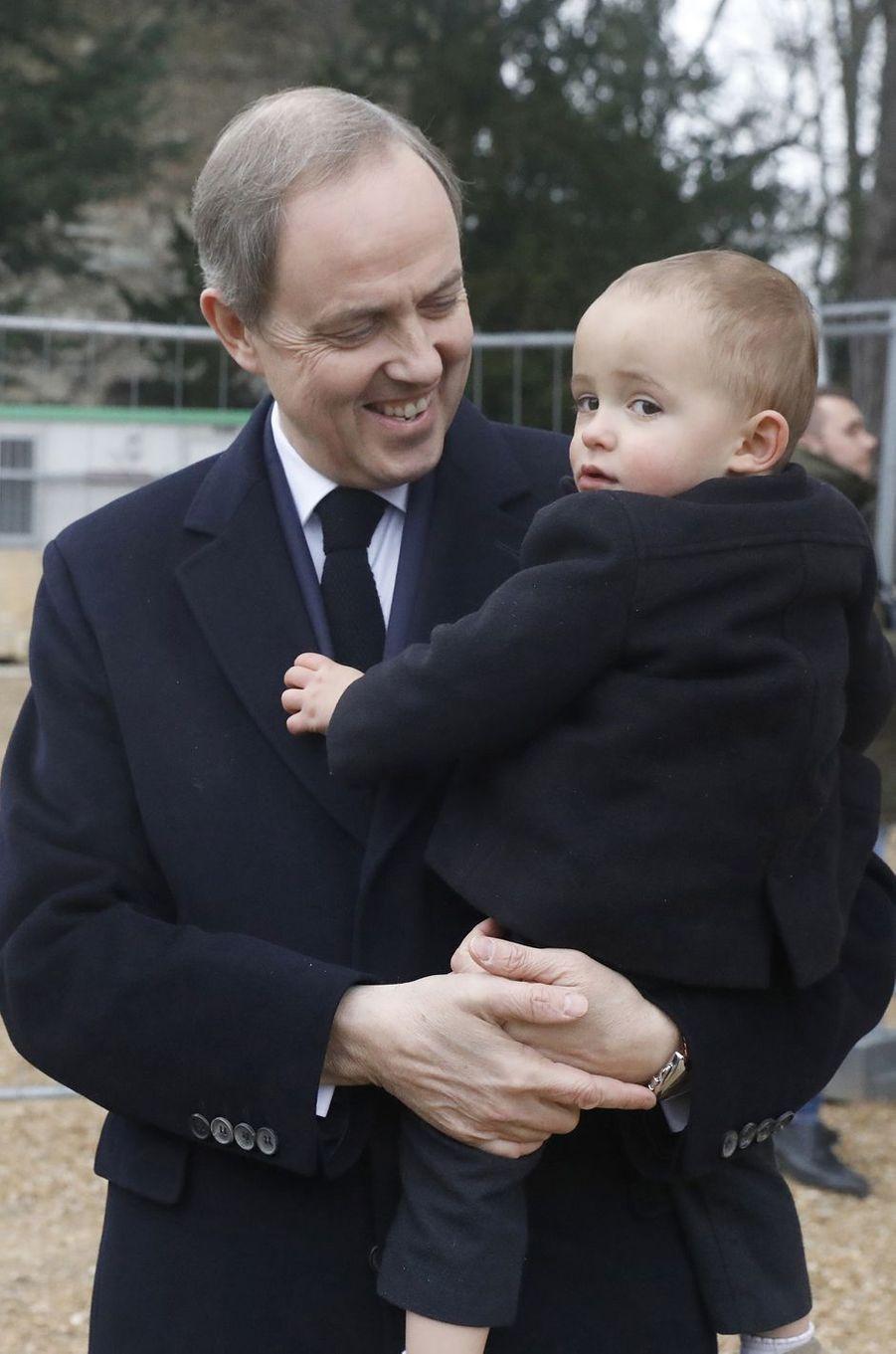 Le prince Jean d'Orléans et son fils le prince Joseph, à Dreux le 6 janvier 2018
