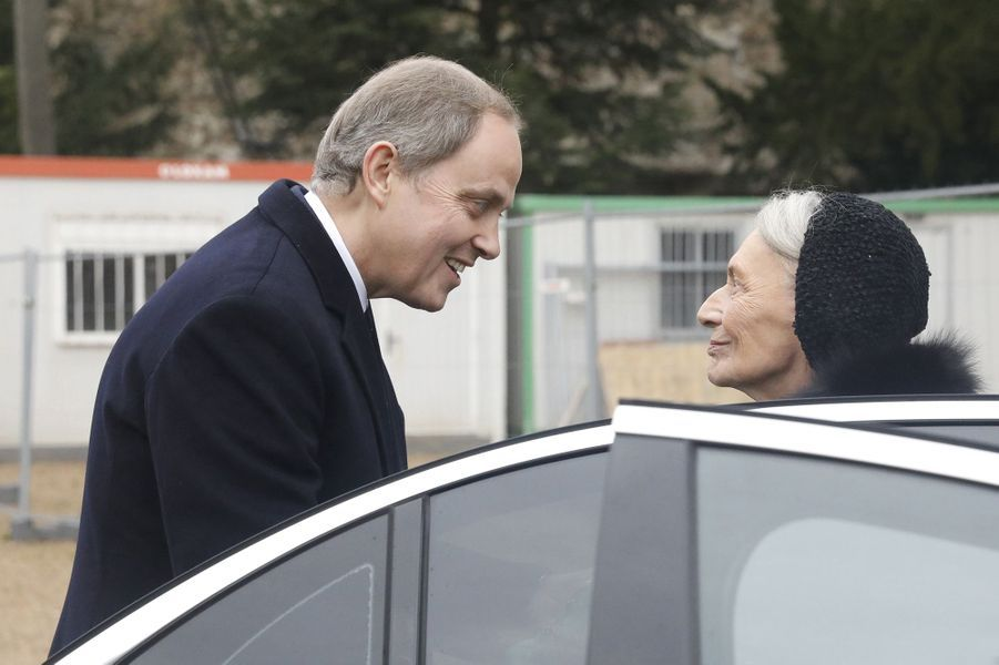 Le prince Jean d'Orléans avec la comtesse de Paris, à Dreux le 6 janvier 2018