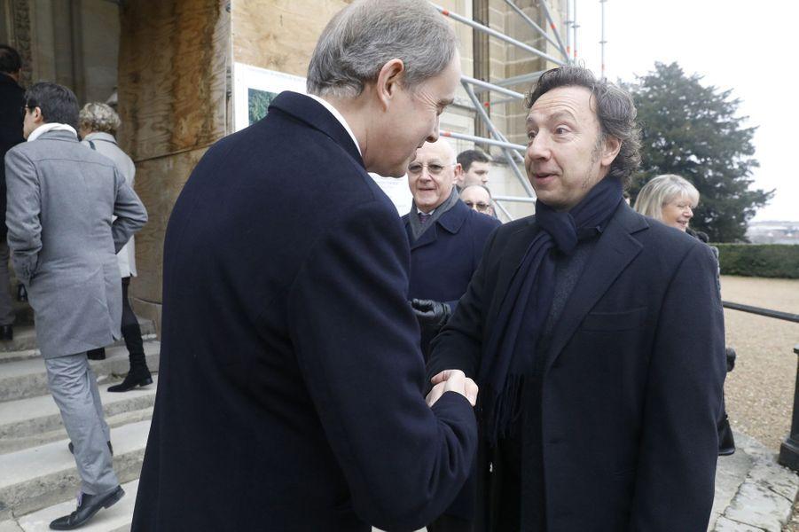 Le prince Jean d'Orléans avec Stéphane Bern, à Dreux le 6 janvier 2018