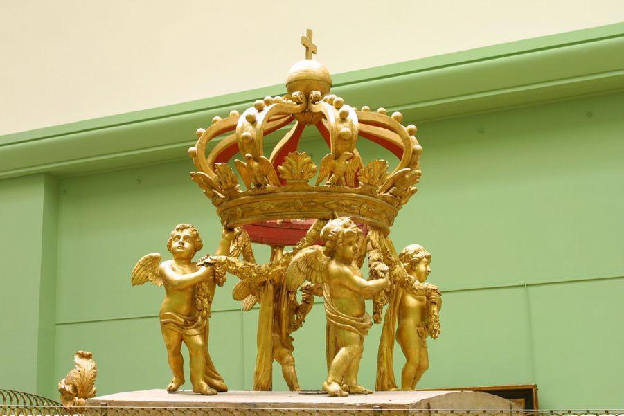 La couronne du canot de Napoléon Ier au musée de la Marine à Paris