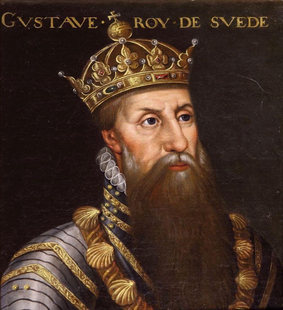 Portrait du roi Gustav Vasa de Suède dans la galerie des Illustres du château de Beauregard, dans le Loir-et-Cher, le 11 novembre 2019