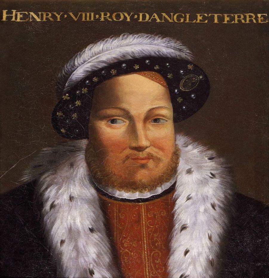 Portrait du roi Henry VIII d'Angleterre dans la galerie des Illustres du château de Beauregard, dans le Loir-et-Cher, le 11 novembre 2019