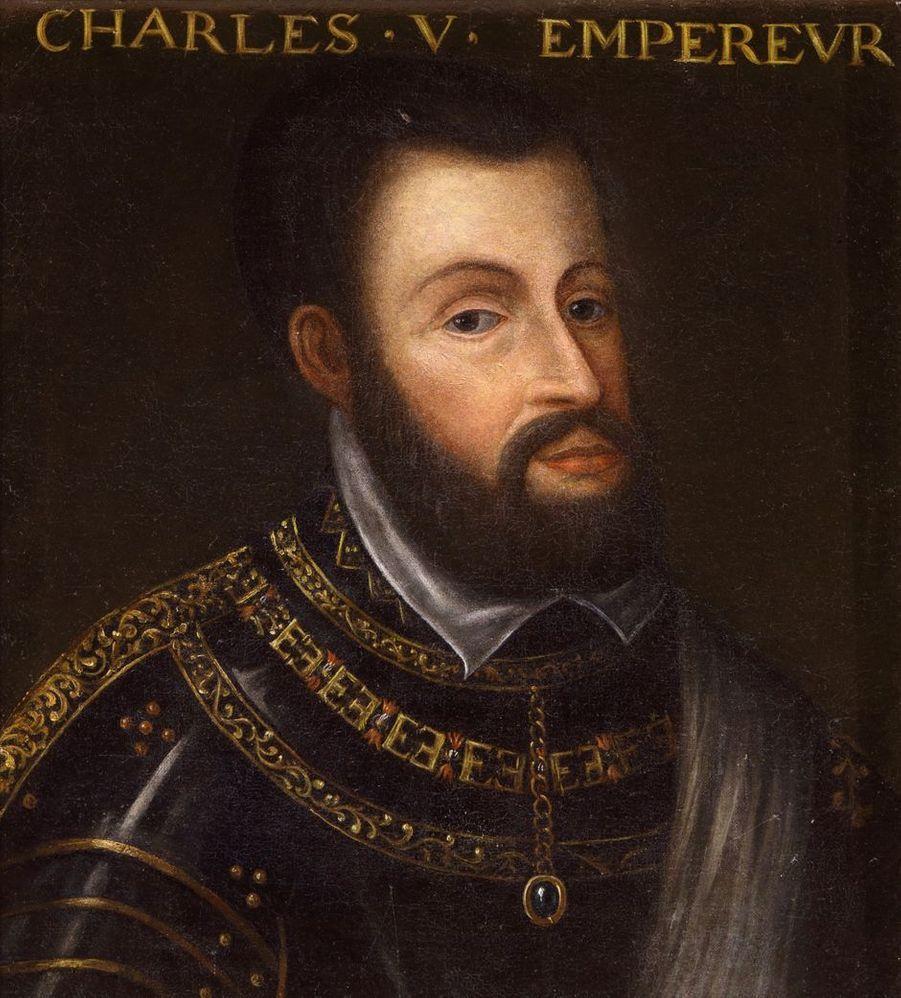 Portrait de l'empereur Charles Quint dans la galerie des Illustres du château de Beauregard, dans le Loir-et-Cher, le 11 novembre 2019