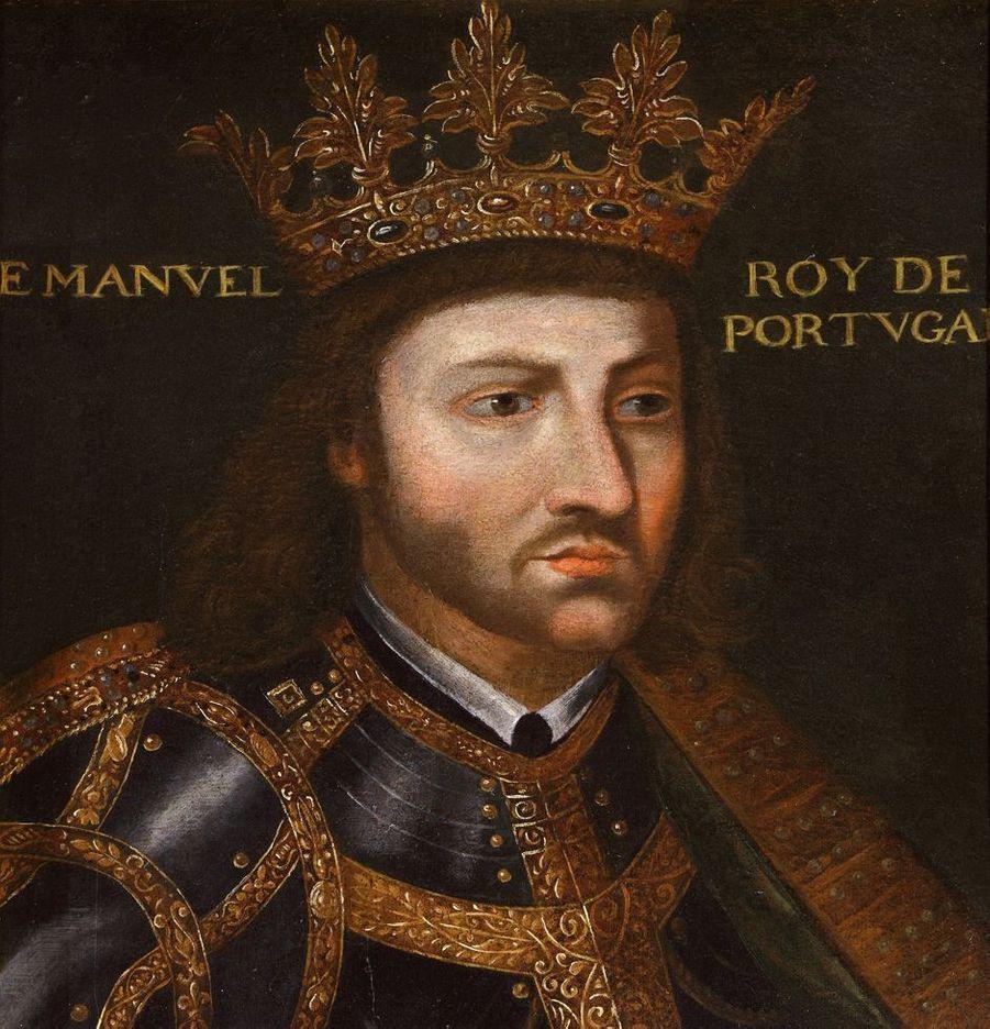 Portrait du roi Manuel Ier du Portugal dans la galerie des Illustres du château de Beauregard, dans le Loir-et-Cher, le 11 novembre 2019