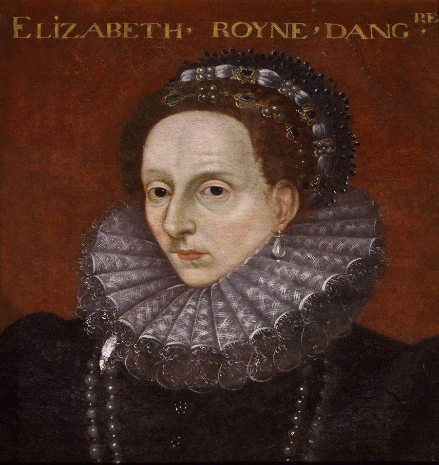 Portrait de la reine Elizabeth I d'Angleterre dans la galerie des Illustres du château de Beauregard, dans le Loir-et-Cher, le 11 novembre 2019