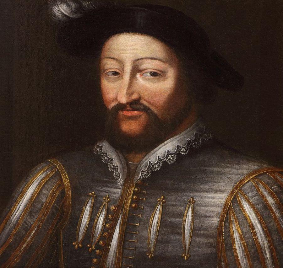 Portrait du roi de France François Ier dans la galerie des Illustres du château de Beauregard, dans le Loir-et-Cher, le 11 novembre 2019