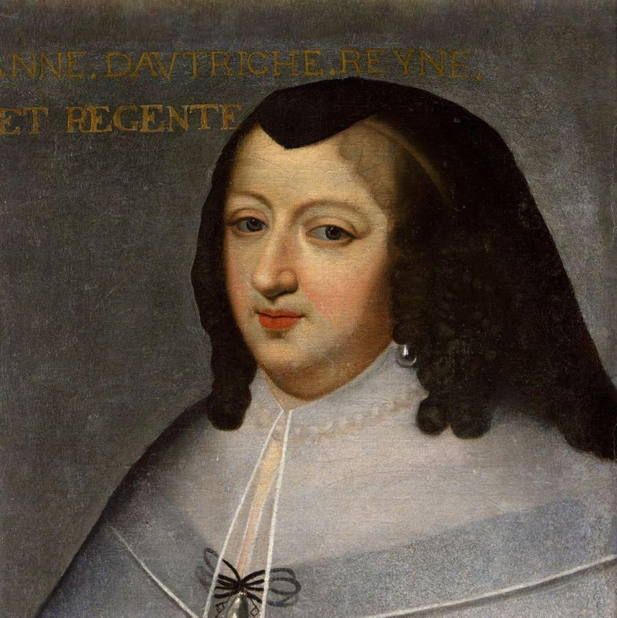 Portrait de la reine Anne d'Autriche, épouse de Louis XIII, dans la galerie des Illustres du château de Beauregard, dans le Loir-et-Cher, le 11 novembre 2019