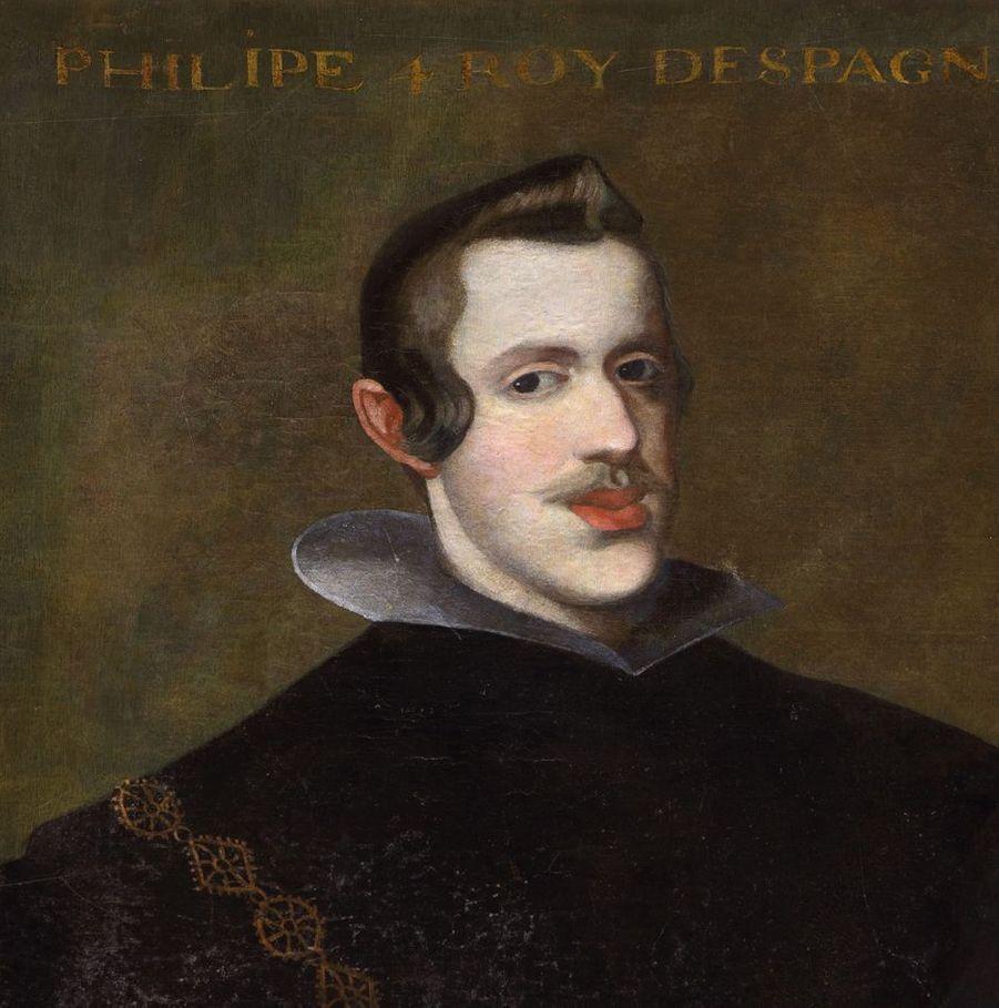 Portrait du roi Philippe IV d'Espagne dans la galerie des Illustres du château de Beauregard, dans le Loir-et-Cher, le 11 novembre 2019