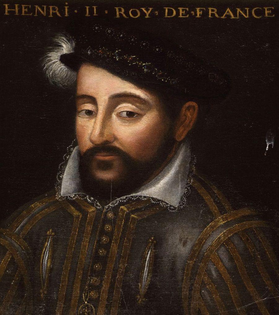 Portrait du roi de France Henri II dans la galerie des Illustres du château de Beauregard, dans le Loir-et-Cher, le 11 novembre 2019