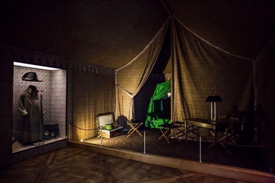 Reconstitution de la tente de campagne de l'Empereur. Musée Napoléon Ier au château de Fontainebleau
