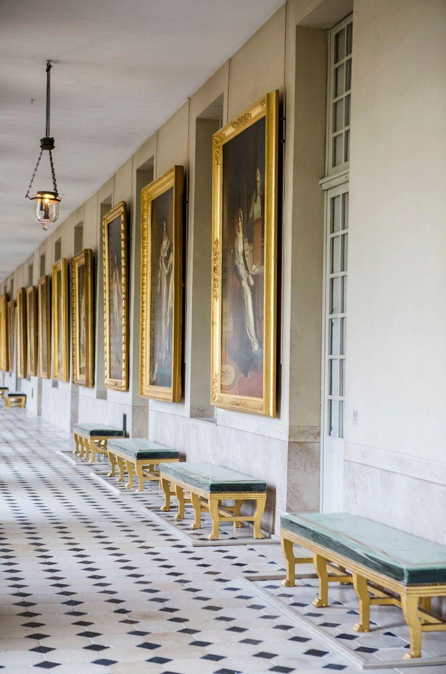 Galerie de portraits de la famille impériale. Musée Napoléon Ier au château de Fontainebleau