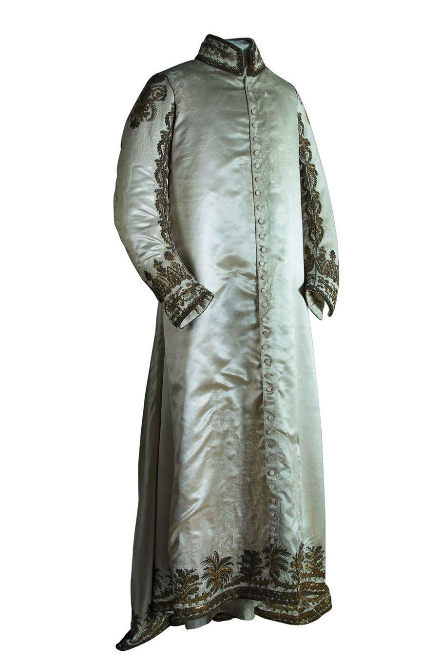Tunique de l'Empereur pour le sacre. Musée Napoléon Ier au château de Fontainebleau