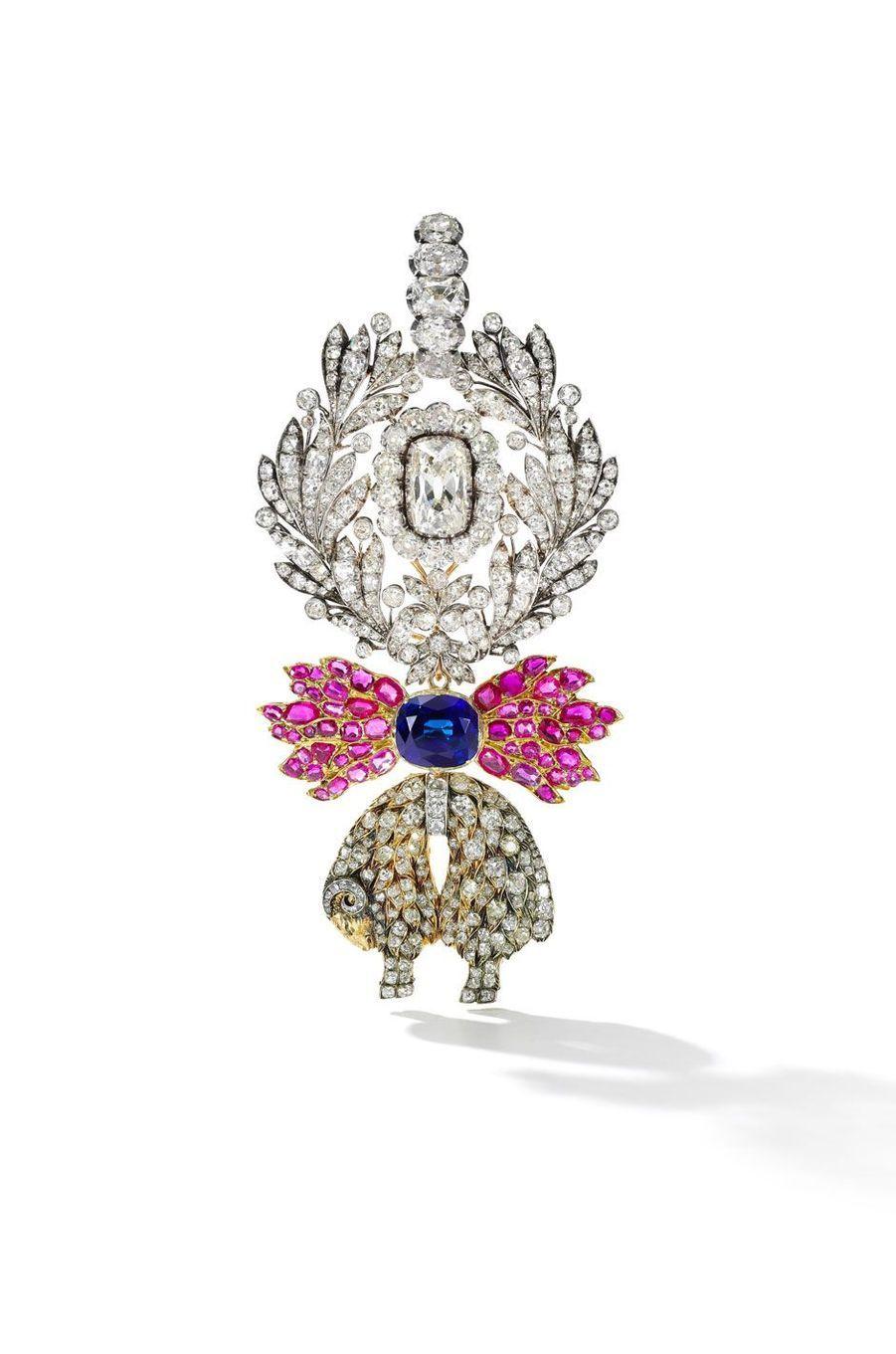 Les trésors des rois de France et de leurs héritiers : décoration de l'Ordre de la Toison d'Or en diamant, saphir et rubis