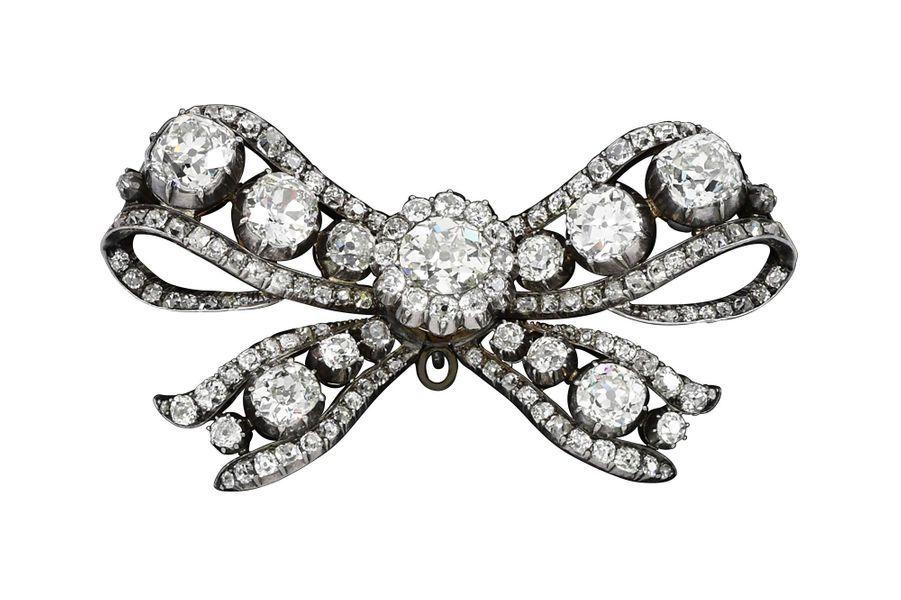 Les trésors de la famille impériale d'Autriche : broche sertie de diamants taille ancienne