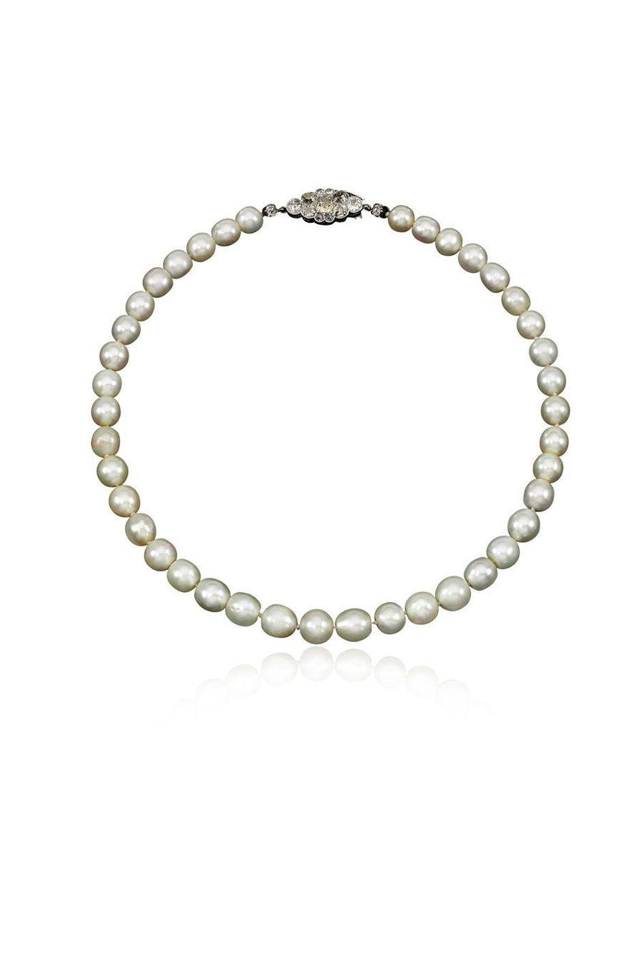 Bijoux de Marie-Antoinette : collier en diamants et perles fines