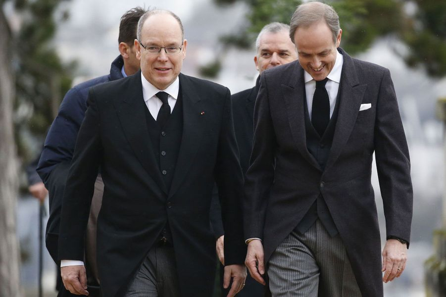 Le prince Albert de Monaco et le Prince Jean d'Orléans