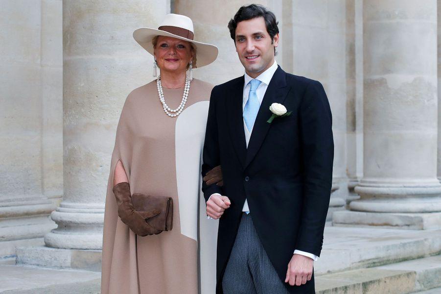 Le prince Jean-Christophe Napoléon et sa mère Béatrice de Bourbon-Sicile, princesse des Deux-Siciles