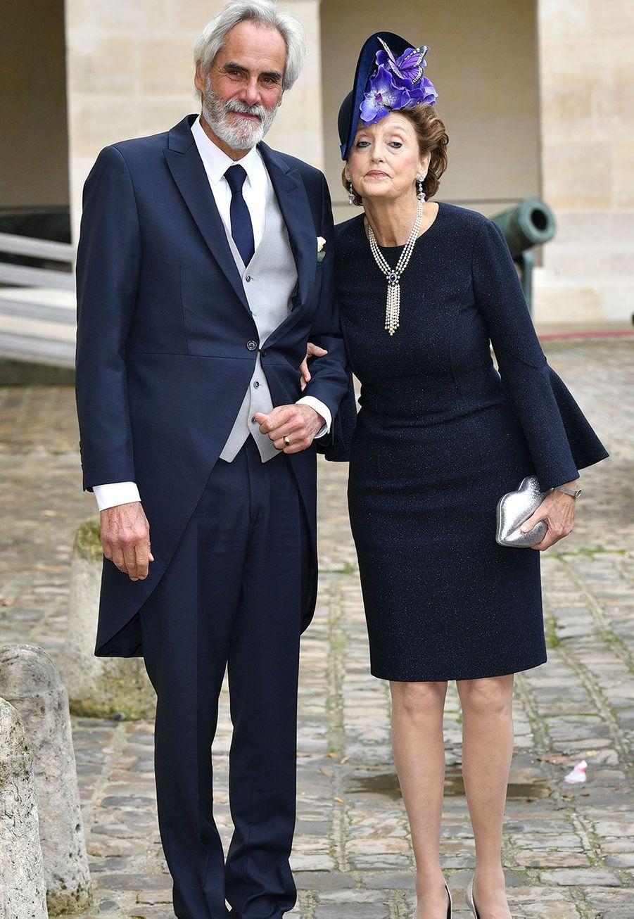 Le prince Charles Bonaparte, père de Jean-Christophe Napoléon, etl'archiduchesse Beatrice d'Autriche-Este, mère de la mariée