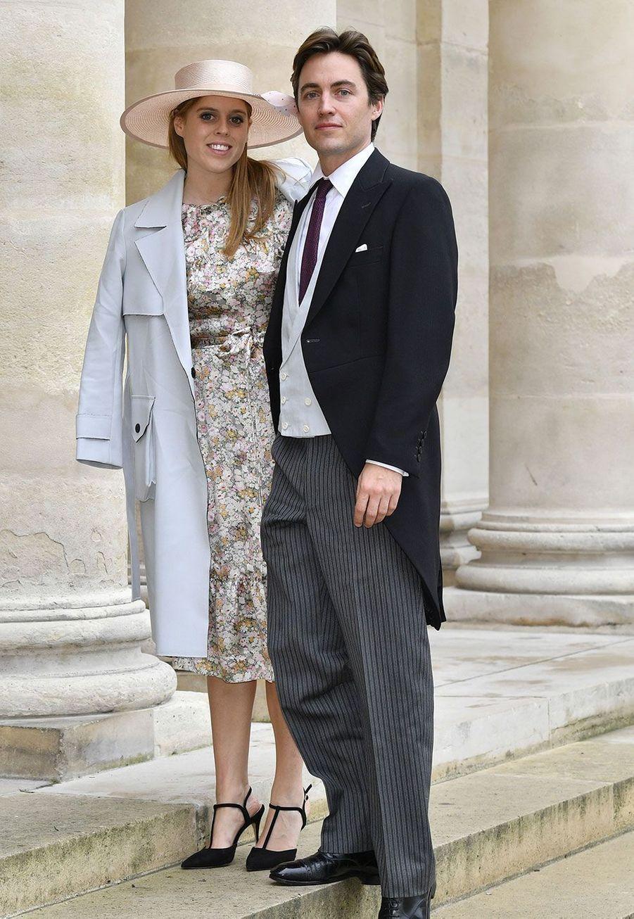 La princesse Béatrice et son fiancéEdoardo Mapelli Mozzi