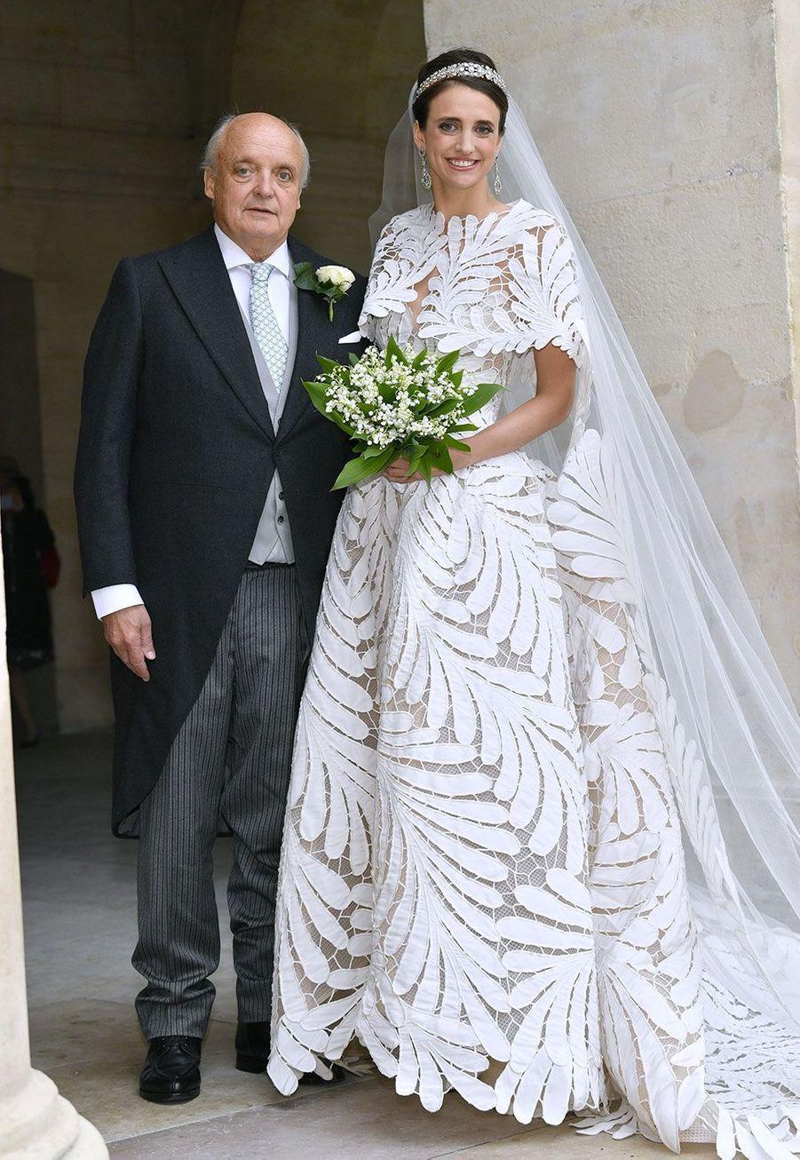 La comtesse Olympia d'Arco Zinneberg et son père, le comte Riprand von Arco-Zinneberg