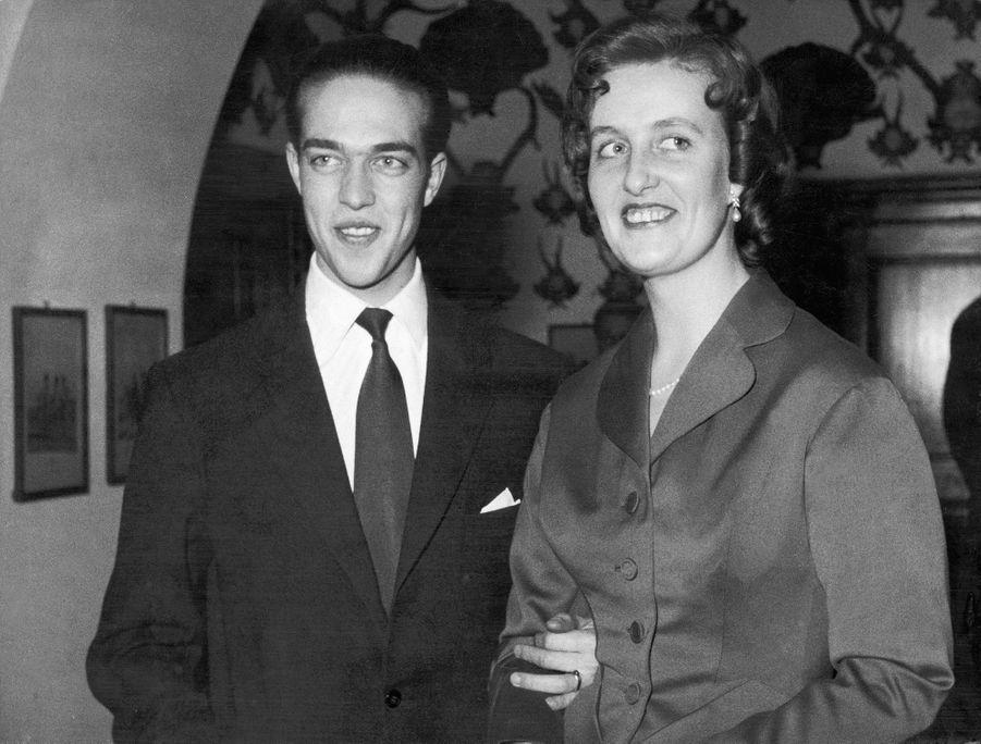 Henri d'Orléans avec sa première femme Marie-Thérèse de Wurtemberg, en 1957