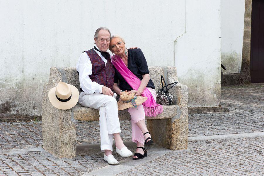 Henri d'Orléans, comte de Paris, et sa femme Micaela, le 19 juillet 2014