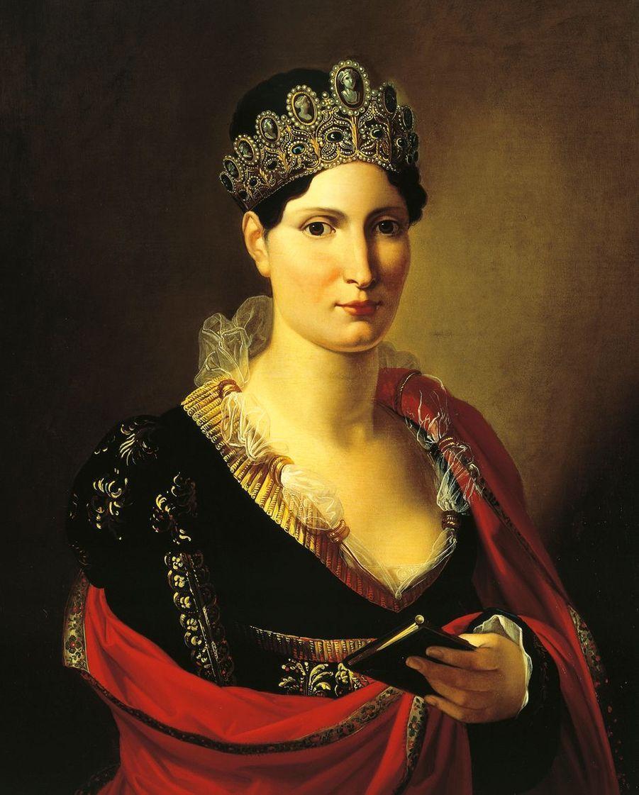 Portrait d'Elisa Bonaparte par Joseph Franque (Museo Stibbert, Florence)