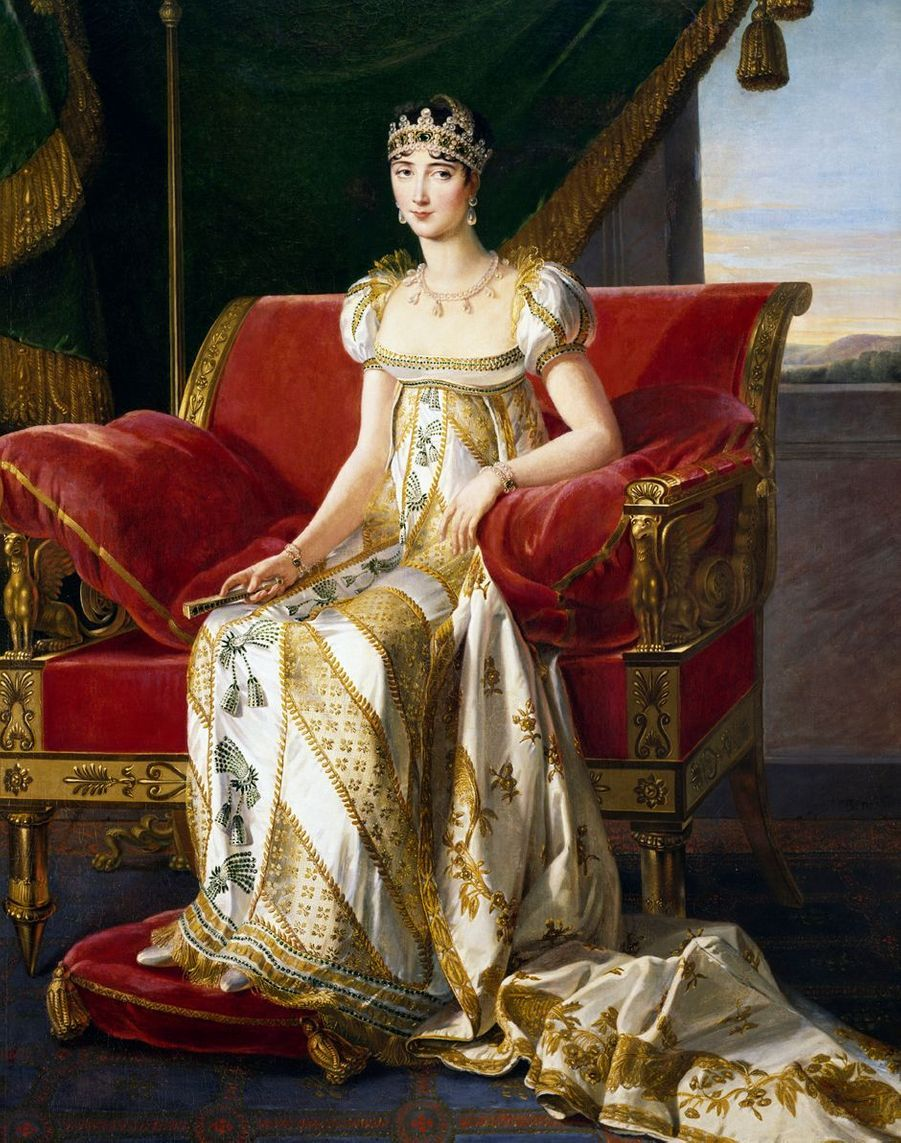 Portrait de Pauline Bonaparte par Marie-Guillemine de Laville Leroux Benoist, 1808 (Musée du château de Fontainebleau)