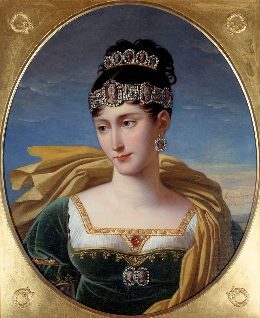 Portrait de Pauline Bonaparte par Robert Lefèvre (Château de Malmaison)