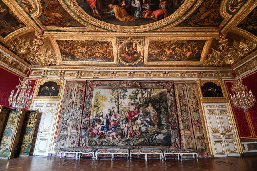 L'antichambre du Grand Couvert au château de Versailles, le 12 avril 2019