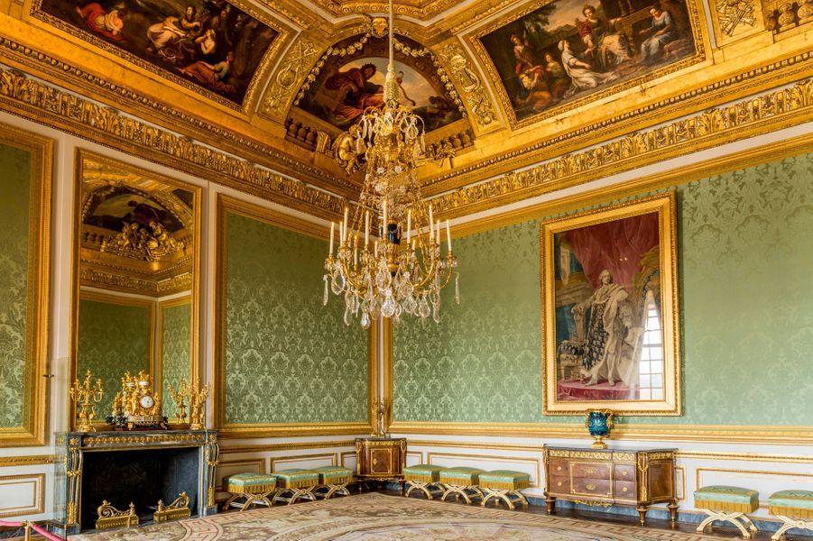 Le salon des Nobles au château de Versailles, restauré, le 17 avril 2019