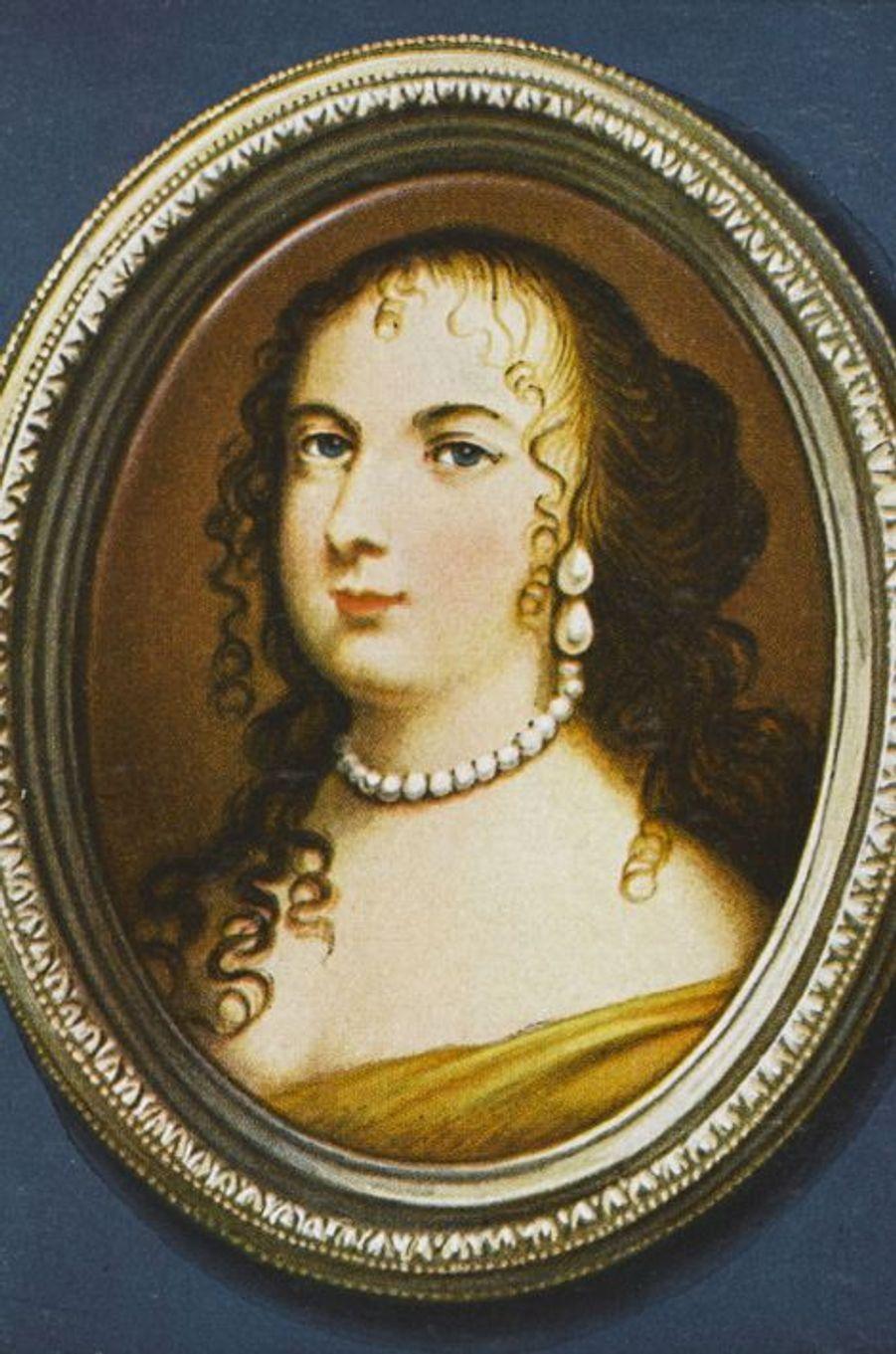 Marie-Thérèse d'Autriche (1638-1683), sa première femmeComme Anne d'Autriche, Marie-Thérèse d'Autriche est une princesse espagnole de la maison des Habsbourg. Elle est l'une des filles du roi Philippe IV d'Espagne et d'Élisabeth de France dont le père n'est autre qu'Henri IV. Marie-Thérèse est donc une cousine doublement germaine de Louis XIV, ce qui ne l'empêche nullement de l'épouser le 9 juin 1660. Née le 10 septembre 1638, cinq jours après le roi Soleil, elle a de fait le même âge que ce dernier lors de leurs noces: 21 ans.Marie-Thérèse donnera six enfants à Louis XIV en dix ans. Un seul, Louis, l'aîné, atteindra l'âge adulte. Reine de France durant un peu plus de 23 ans, la première épouse du roi Soleil meurt le 30 juillet 1683, à l'âge de 44 ans.