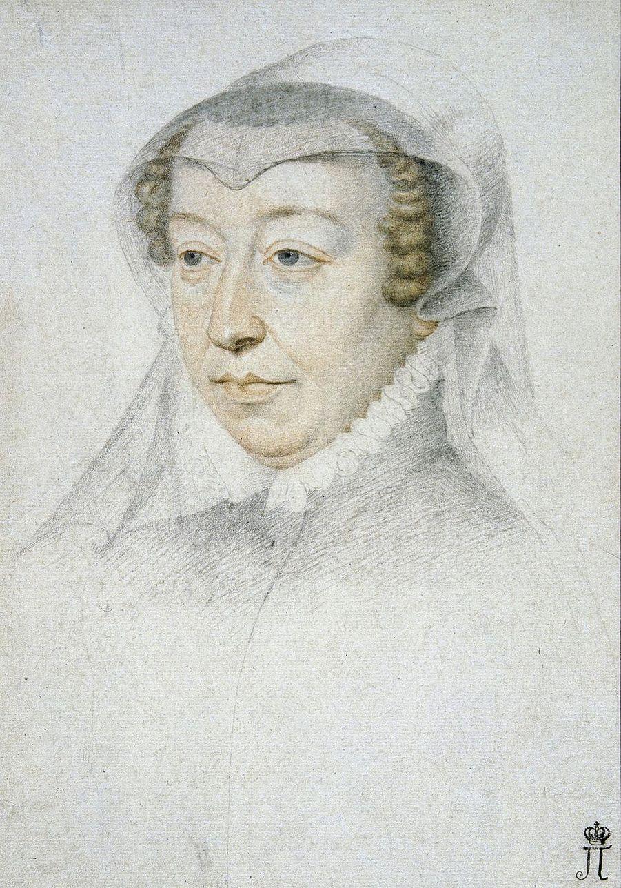 Portrait de Catherine de Médicis par Clouet (Musée de l'Ermitage à Saint-Petersbourg)