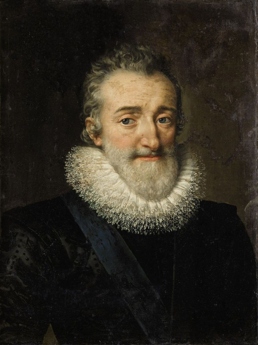 Lot 1 - Frans Pourbus le Jeune Portrait d'Henri IV, Daté AN° 161. Huile sur toile 58,5 x 43,5 cm Estimation : 20.000 - 30.000 €