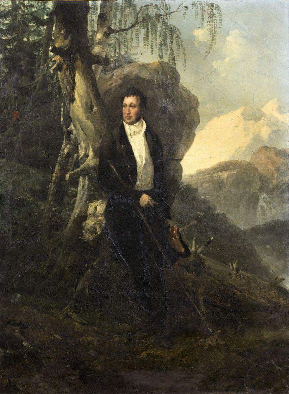 Lot 17 - Emile-Jean-Horace Vernet Louis-Philippe, duc d'Orléans, dans un paysage de Suisse, 181? Huile sur toile 40.8x32.8 cm Estimation : 20...