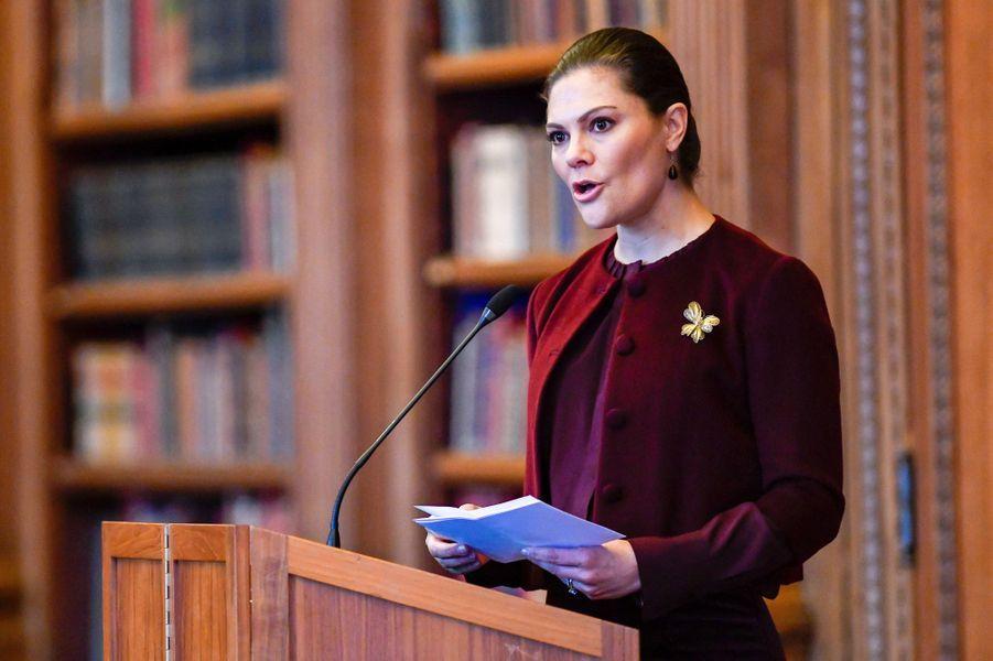 La princesse Victoria de Suède à Stockholm, le 26 janvier 2018