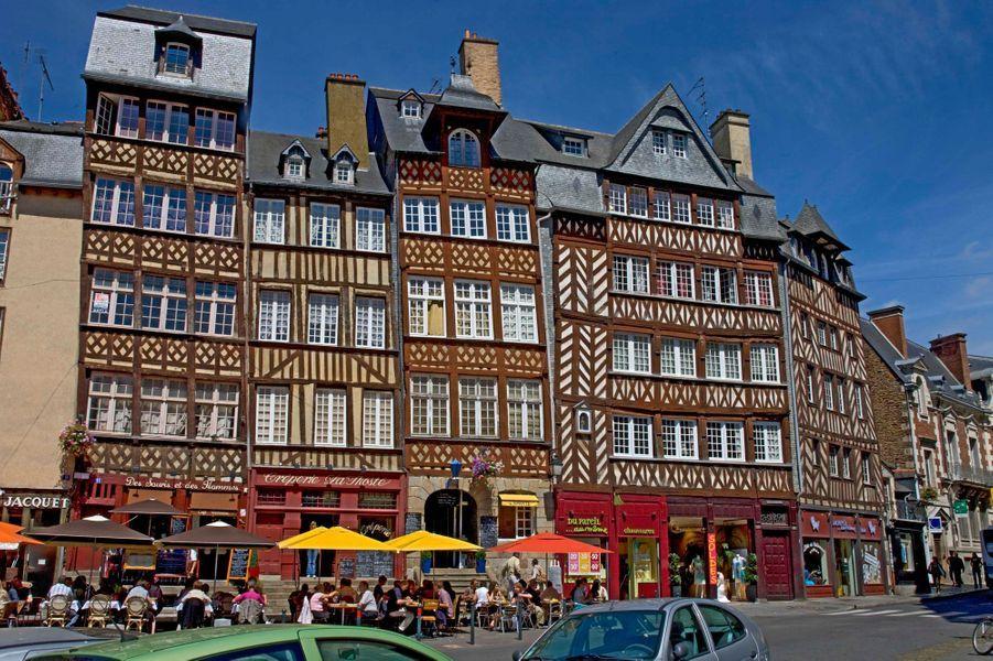 Des maisons typiques bretonnes à Rennes