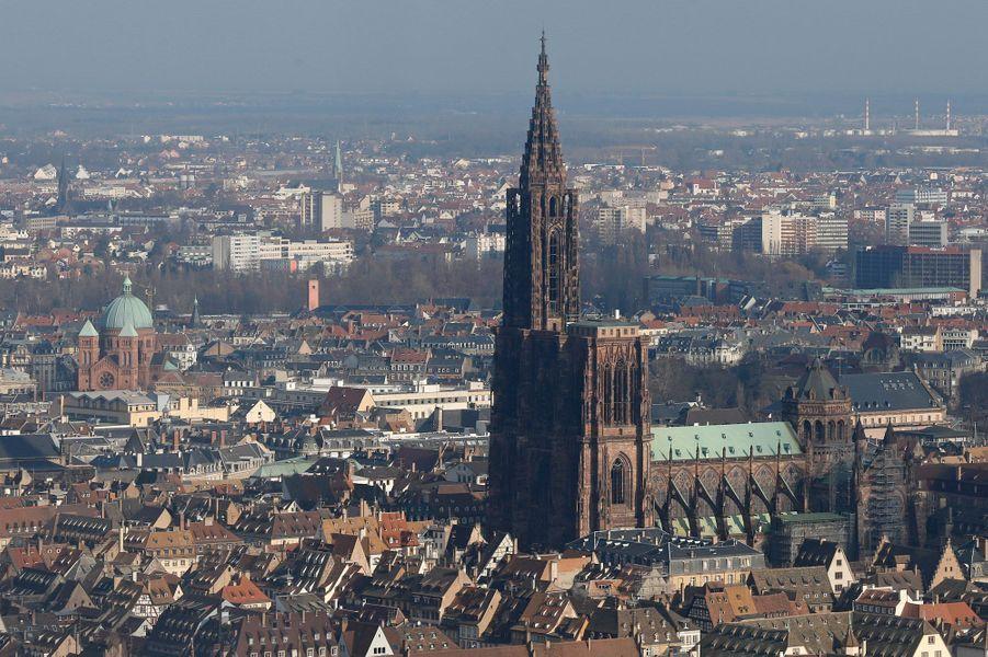 Une vue aérienne de Strasbourg