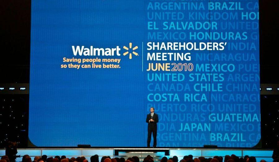 Héritière de Wal-Mart, socitété créée par son mari Sam Walton.