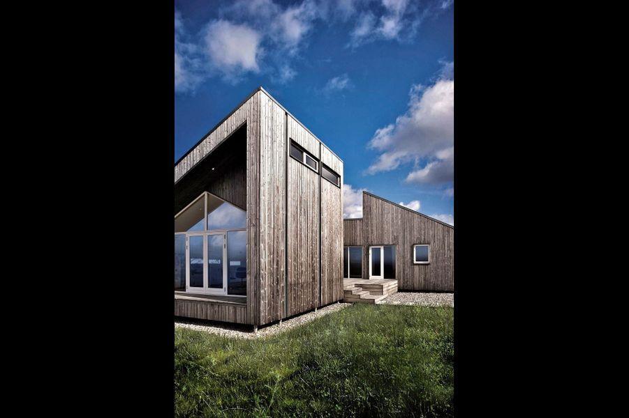 Une première mondiale: au Danemark, un nouveau concept de maison entièrement écologique, en déchets verts recyclés.