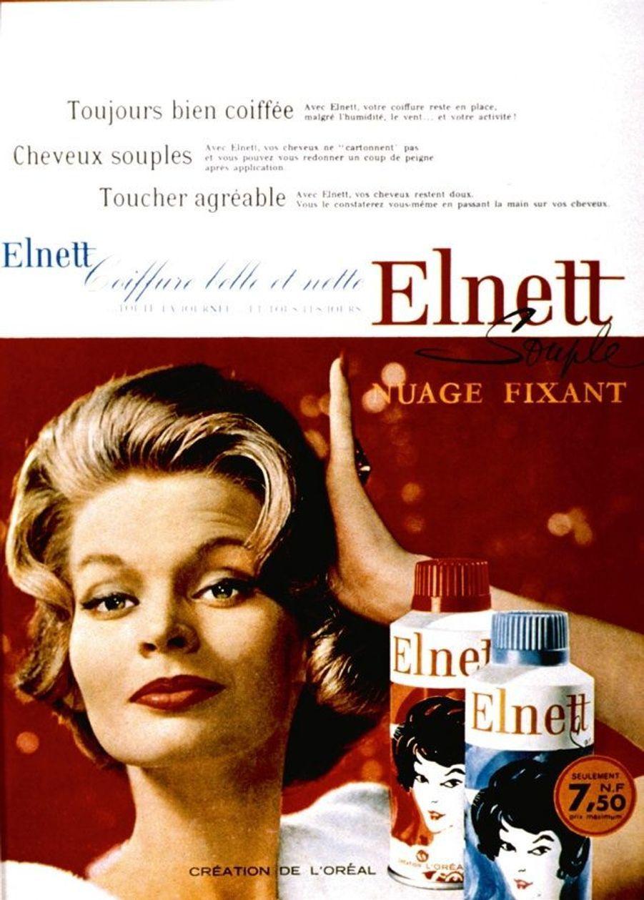La laque Elnett de L'Oréal Paris, produit phare des années yéyé.