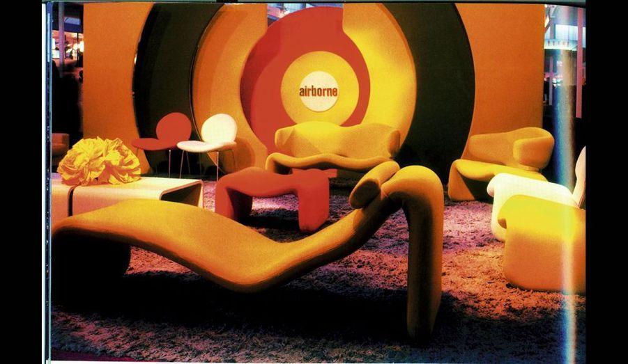 Cette chaise longue d'Olivier Mourgue pour Airborne, fut l'une des vedettes du film « 2001 : l'odyssée de l'espace » (1968).