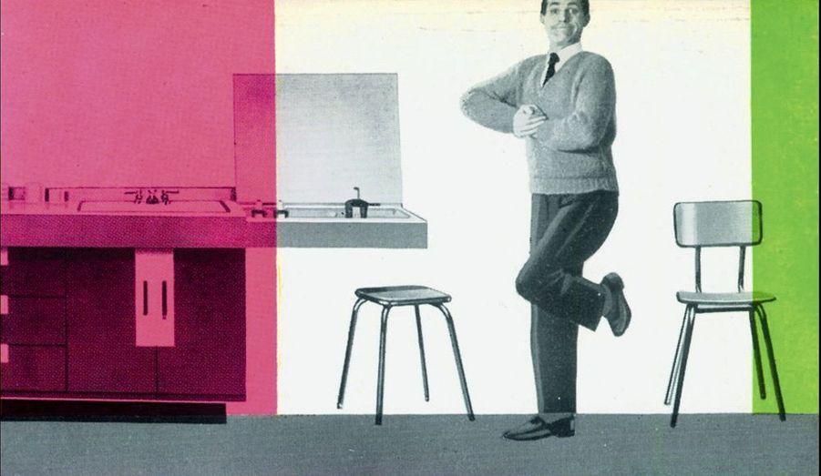 Ses multiples couleurs succèdent aux meubles rustiques de papa.