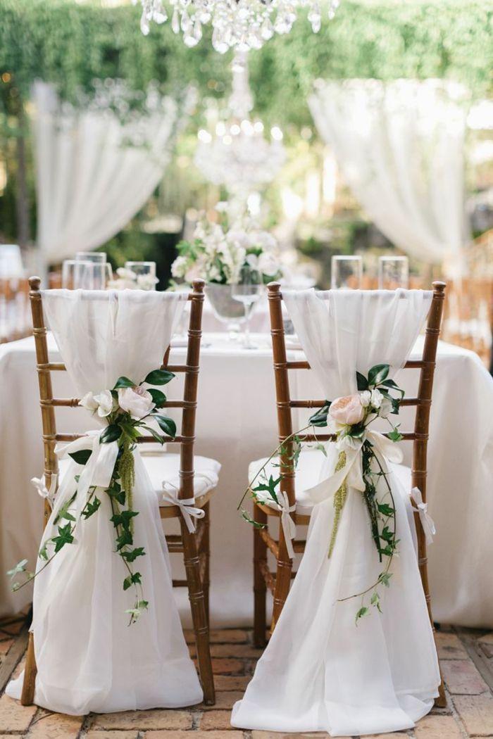 Des chaises de mariage romantiquehttps://www.pinterest.fr/pin/403635185335169329/