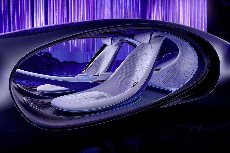"""Le concept-car """"VISION AVTR"""" de Mercedes-Benz a été présenté le 7 janvier au salon du CES à Las Vegas."""
