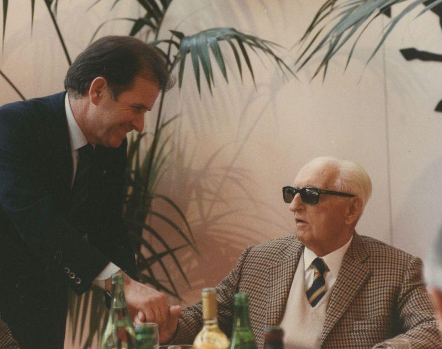 Giuseppe Neri (à dr.) et Enzo Ferrari, une relation d'estime et de confiance.