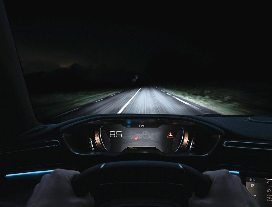 Une panoplie complète d'assistances à la conduite, dont un système de vision nocturne par caméra infrarouge (1), la rapprochant un peu plus de la voiture autonome.