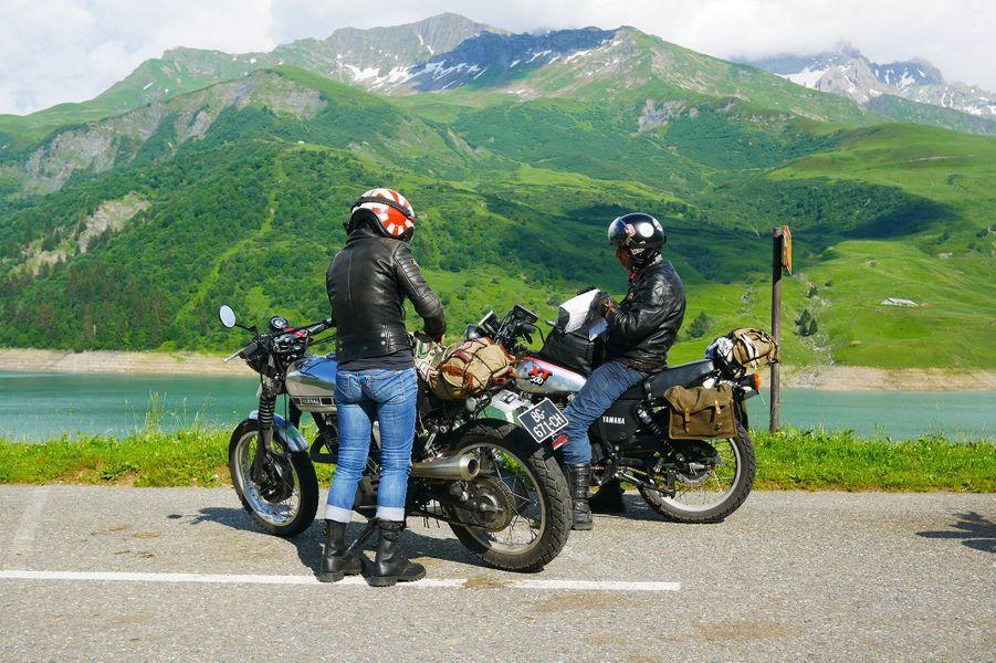 Couple de Yamaha XT500 et SR500