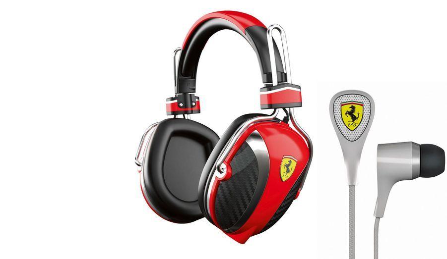 Pour les amateurs de V8 comme de classique, Ferrari et Logic3 se sont associés pour créer ces écouteurs (119 euros) et ce casque (239 euros), inspiré de celui de l'écurie de F1.